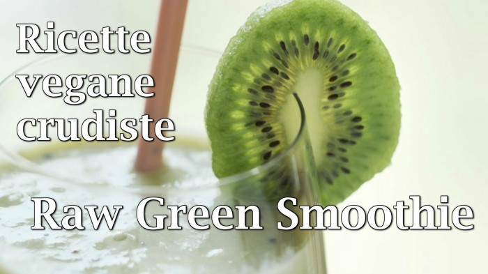 Ricette Raw Food: smoothie kiwi, banana, spinaci
